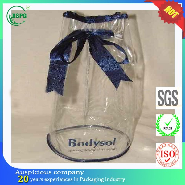 Stylish vinyl pvc packing gift drawstring bag