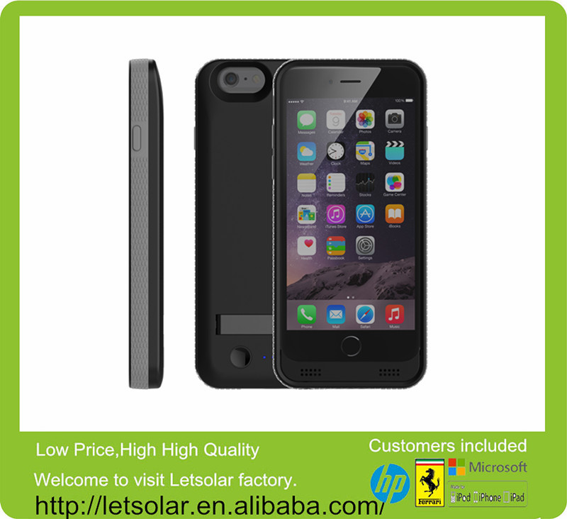 3,100mAh battery charger power bank cell phone case or iPhone 6 with MFI