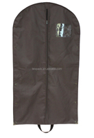 Brown polyester 210D carrier dust bag for garments/clothing/dresses/t-shirts