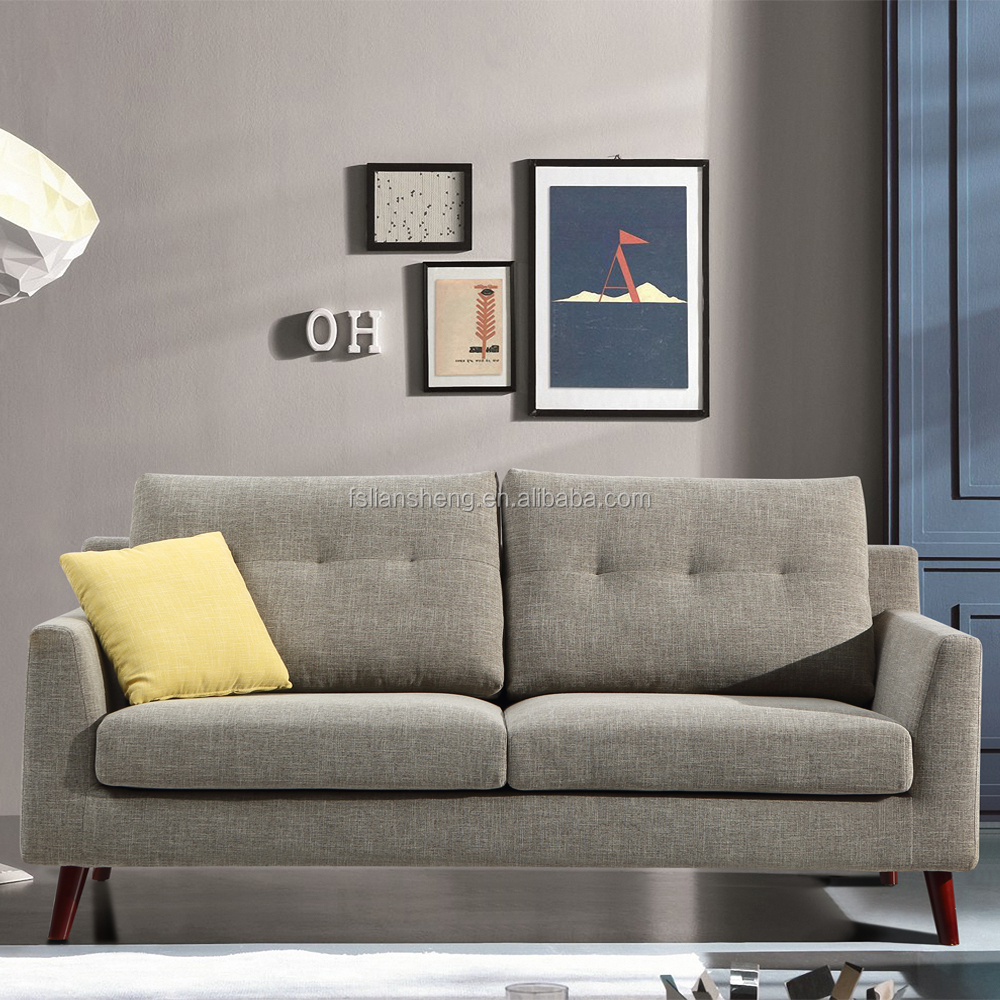 2016 latest sofa design living room sofa with solid wooden legs for