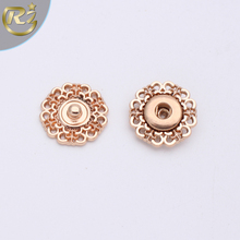 N-1124 Oem Rose Gold For Baby Cloth China Factory Different Type Of Garment Flower Shape Zinc Alloy Snap Button