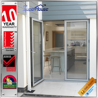 Hurricane-resistant double glazed tempered glass aluminium swing and hinged windows and doors