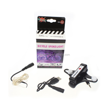 Professional design color box packing 2400mAh bike led flash string lights with usb charging