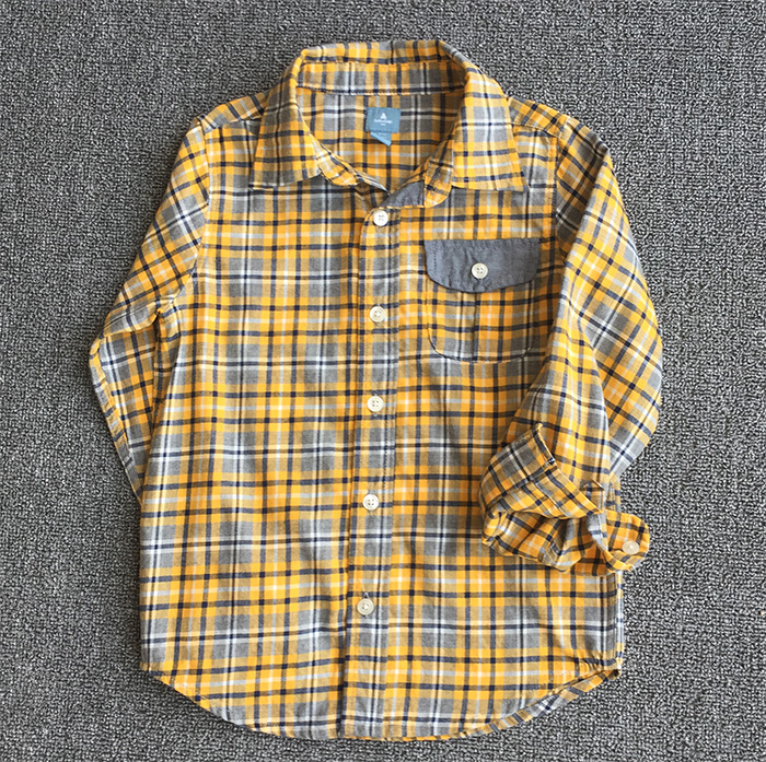 Kids plaid flannel causal latest shirt designs for boys