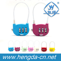 YH9993 Children students lovely padlock 3 Digit Resettable combination mini cable lock