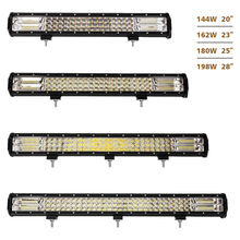 2017 High Power 162w 23inch offroad led light bars 3 Row Straight 4x4 LED driving Light Bar