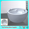 Popular bowl shaped natural white oval shape free stand bath tub