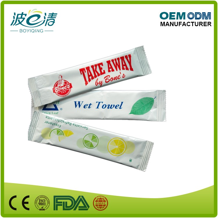 Promotional private label single wet wipe