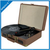 Mobile Suitcase Vinyl Record Player with USB Recording