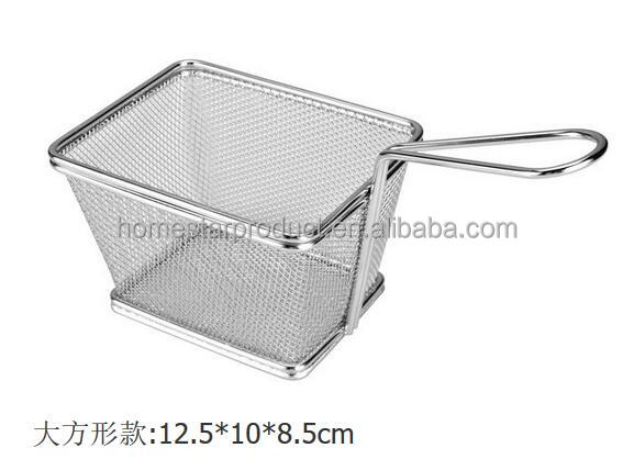 stainless steel wire mesh fryer baskets/Chips baskets and chip fryer basket