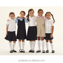 OEM cotton kindergarten /primary school pinafore girls school dress uniform