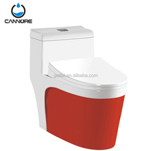 Luxury design color toilet bathroom ceramic one piece siphonic toilet