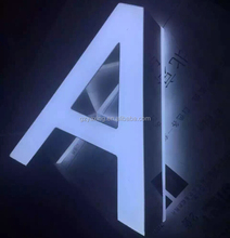 "Outdoor large ""A"" led letters,3d led letter sign,3d led plastic acrylic letters"