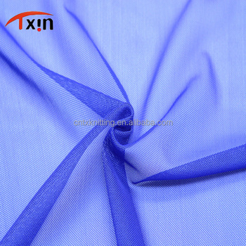 polyester+spandex netting stretch tulle mesh fabric for wedding dress and lining
