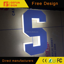 Advertising laser cut 3D acrylic custom neon letter signs