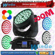 36pcs 18W wash RGBWAUV 6in1 hot new products for 2015 ZOOM led moving head