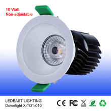 10W COB non-adjustable Fire rated LED Downlight with lifud driver