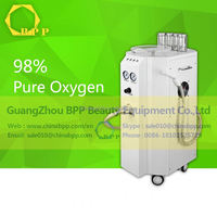 High pressure 4 container 98% pure oxygen water machine / portable oxygen facial machine