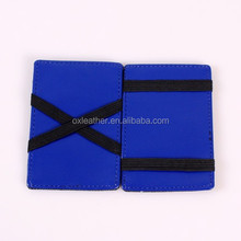 Money clip pu material magic wallet customized logo printing leather wallet