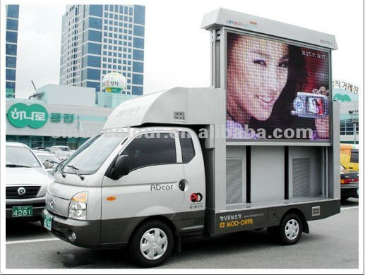 Hot new technology outdoor mobile led screen