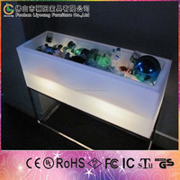remote control illuminated led event light box led ice box wine storage holder bar furniture illuminated led ice cooler box