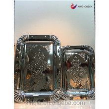 Carrying tray with handle stainless steel serving tray vanity tray