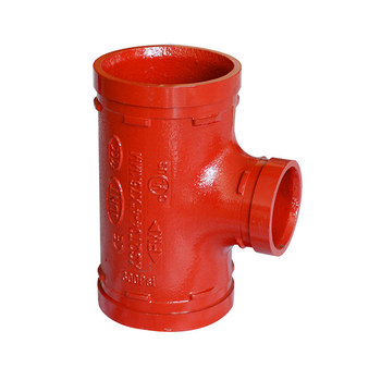 "FM /UL Approved 6""x2"" Grooved Coupling Reducing Tee for Ductile iron pipe"