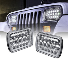 Competitive price sealed beam led headlight IP68 PD7SL-45W 7x6 led projector headlights 7 inch square head light for jeep truck