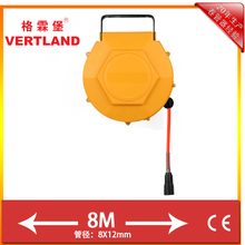 8m spring retractable air hose reel with bracket