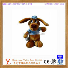 fancy brown cartoon animal toy dog toy with two long ears for sale