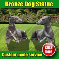 Professional metal sculpture dog on motorcycle for wholesales