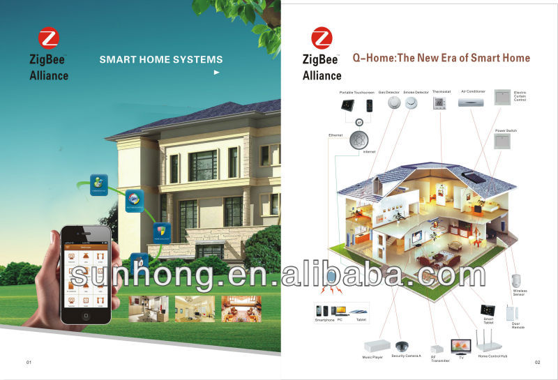 Qome1 Zigbee Smart Home System for home automation house