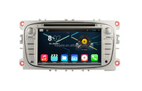 2014 new android 4.4 car dvd player for ford focus Mondeo S-Max dvd support gps navigation
