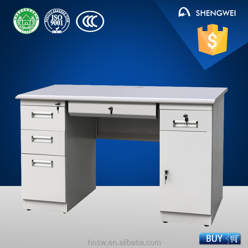 Professional stainless steel computer desk office table office desk
