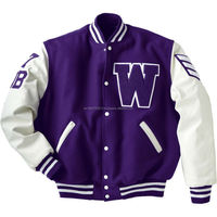 Blue And White Varsity Jacket , Get Your Own Designed Letterman Jackets Baseball Jackets , Wholesaler Of Varsity Jackets