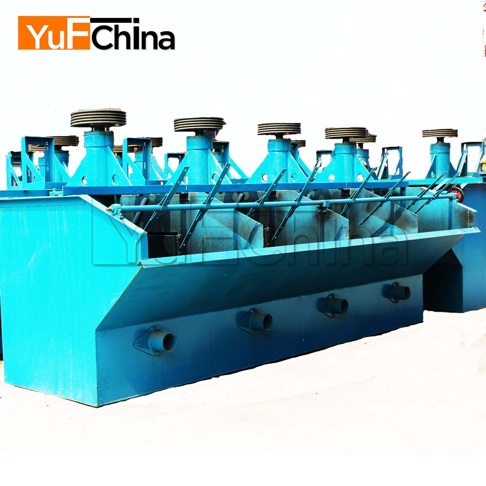 Gold, silver, copper, zinc, lead, iron ore dressing production line---flotation and magnetic separator process machine