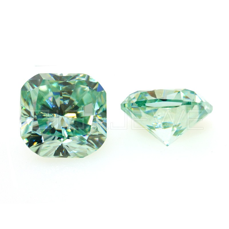 light yellow and green moissanite rough material