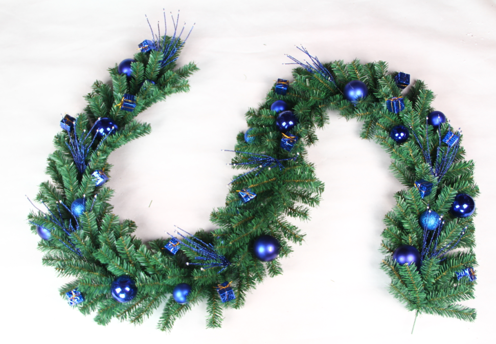 New style promotional pvc artificial christmas wreath