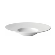 Custom White Deep Ceremic Soup Plate