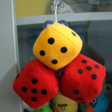 Promotional Stuffed Custom Colored Plush Funny Dice