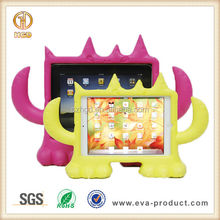 Cartoon monster design kids proof EVA stand tablet rubber case for ipad mini