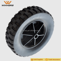 8 Inch Plastic Wheel Solid Rubber