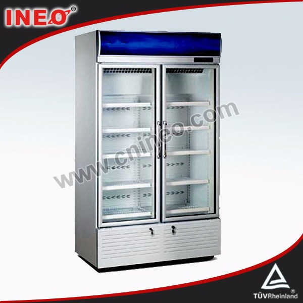 670L Upright Glass Door second hand refrigerator/refrigerator used for sale
