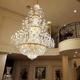 Traditional Golden Large Crystal Chandelier For Hotel Foyer