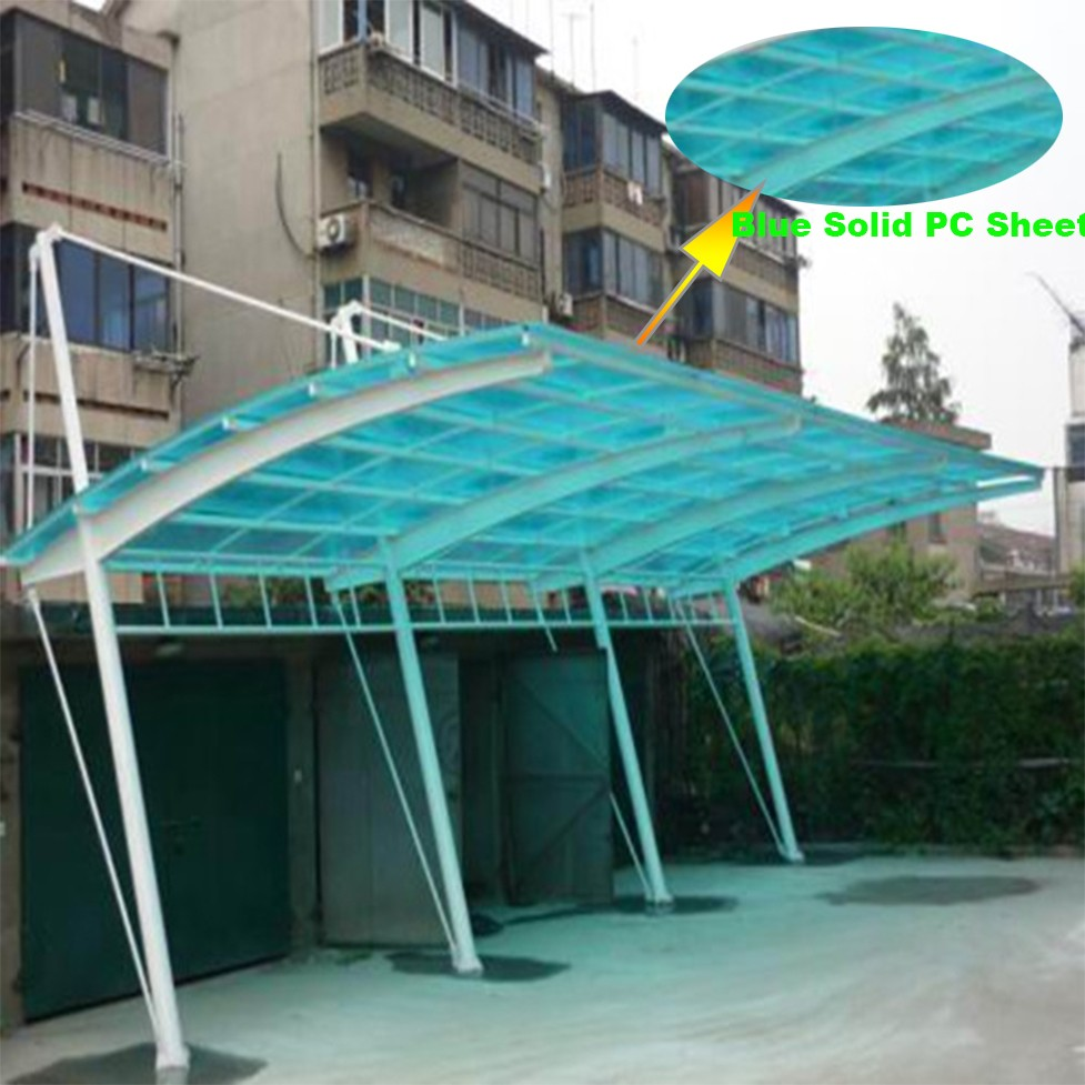 Acrylic Car Shelters : Polycarbonate panel uv layer sgs iso rohs skylight