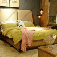 712 china bed making factory latest high back wood double bed designs with box