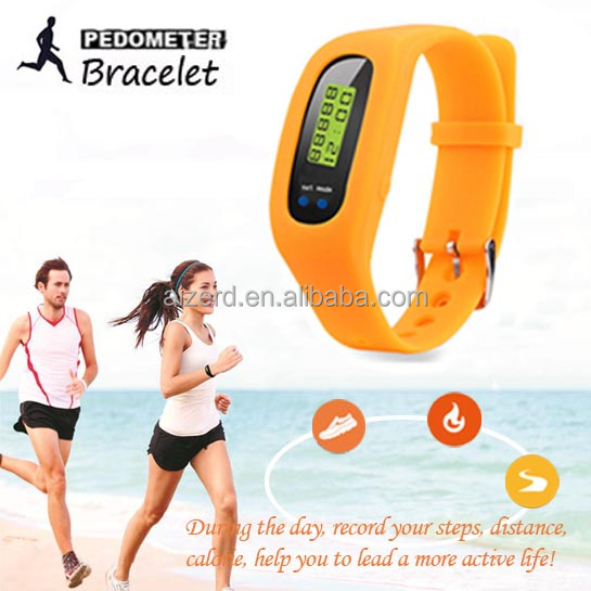 High cost performance silicone fitness wristband pedometer