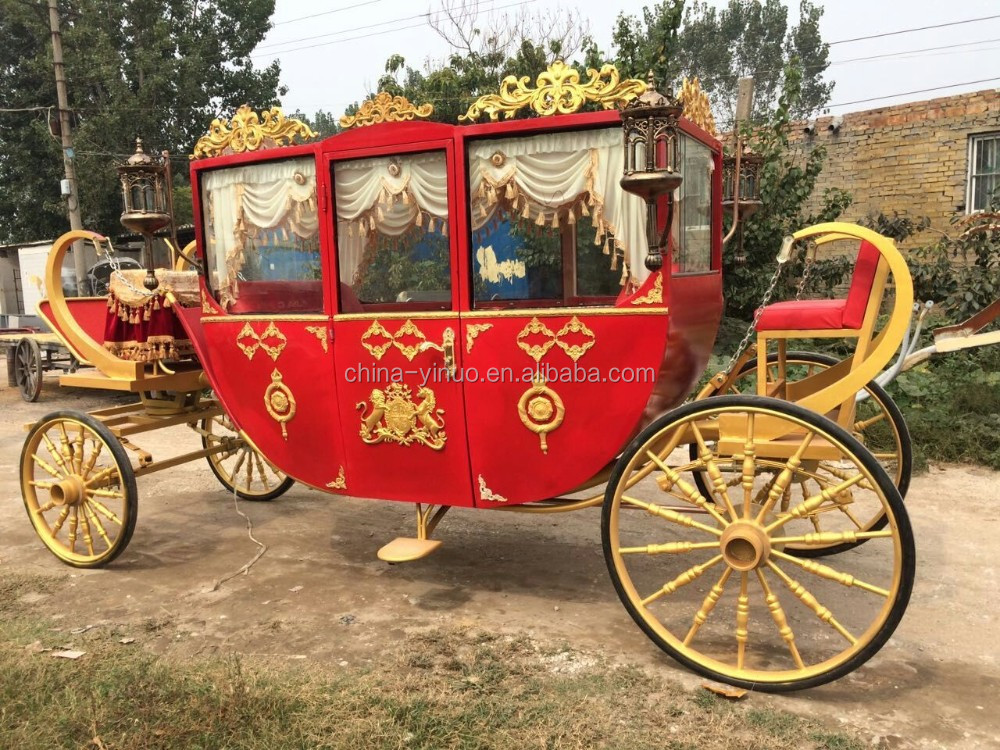 Yizhinuo Luxury interior 4 wheels royal carriage for horse drawn or electric