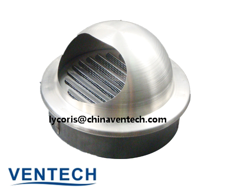 stainless aluminum ball weather louver round weather louver stainless air louver