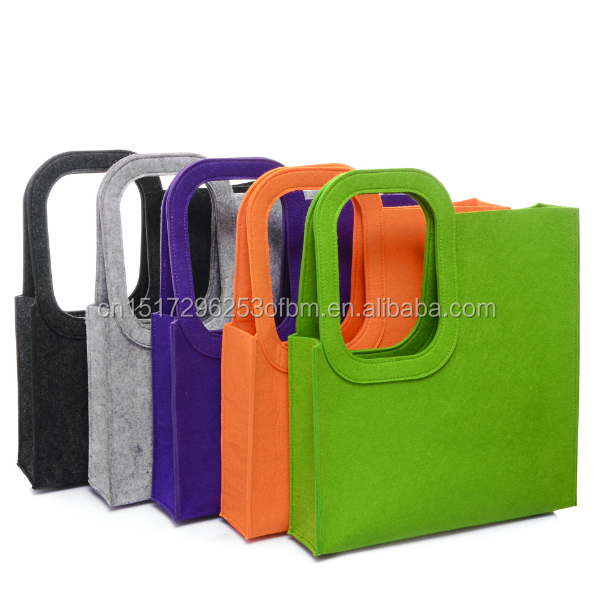 factory customized Eco-friendly fashion women felt carry bag for shopping